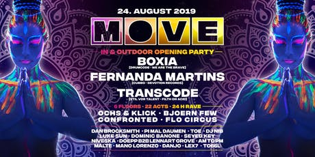 MOVE Season Opening 24h Rave 6 Floors with Boxia,Fernanda Martins,Transcode Tickets