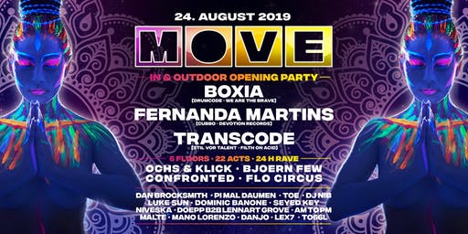 MOVE Season Opening 24h Rave 6 Floors with Boxia,Fernanda Martins,Transcode