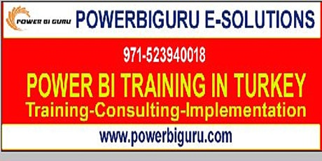Microsoft Power BI training in turkey for beginners-Business Intelligence tickets