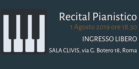 Recital Pianistico biglietti