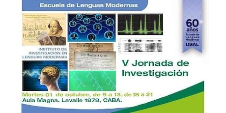 V Jornada de Investigación del Instituto de Investigación en Lenguas Modernas entradas