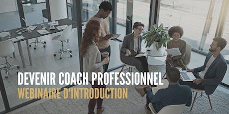 Webinaire : Devenir coach professionnel tickets