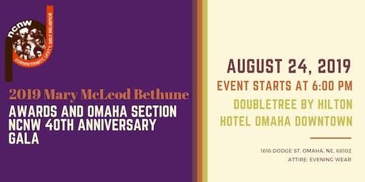 MMB 2019 Mary McLeod Bethune Awards and Omaha Section NCNW 40th Anniversary Gala