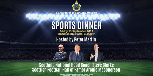 Sports Dinner 2019 featuring Steve Clarke and Archie Macpherson