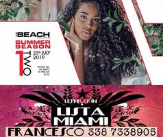 THE BEACH CLUB MILANO - GIOVEDI 25 LUGLIO 2019 - ONE TWO - HIP HOP RNB REGGAETON PARTY - LISTA MIAMI - LISTE E TAVOLI 338-7338905