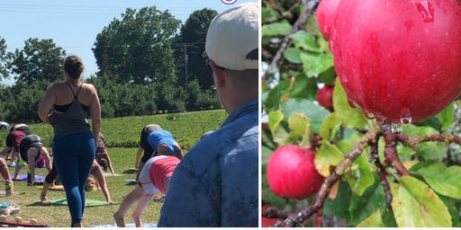 Outdoor Yoga + Apple Picking at Barthel Fruit Farm