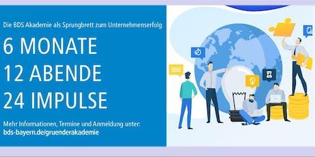 BDS Bayern für Existenzgründer - Steuern und steuern Tickets