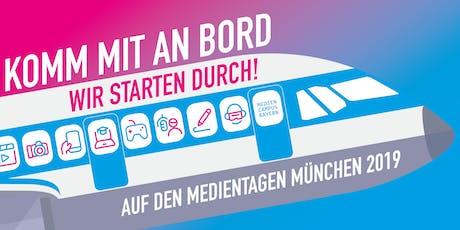 MedienCampus auf den Medientagen München 2019 Tickets