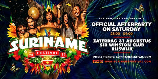 Suriname Festival AFTERPARTY on Saturday 31 aug