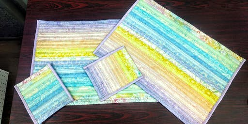 Let the Good Times Roll! Learn to Sew Jelly Roll Place Mats and Mug Rugs