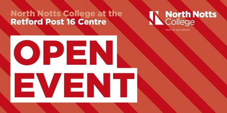 North Notts College - Retford Post 16 Centre - Open Event tickets