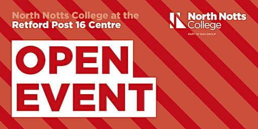 North Notts College - Retford Post 16 Centre - Open Event