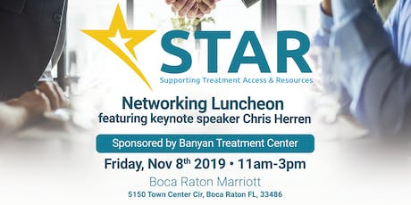 STAR November Luncheon sponsored by Banyan Treatment Center tickets