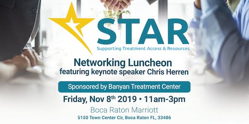 STAR November Luncheon sponsored by Banyan Treatment Center