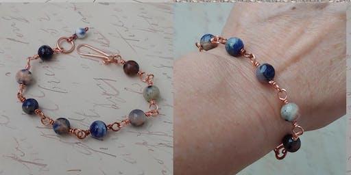 Beaded Rosary Chain Bracelet