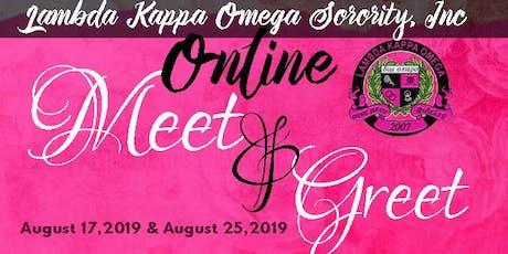 Lambda Kappa Omega Sorority, Incorporated Online Meet and Greet tickets