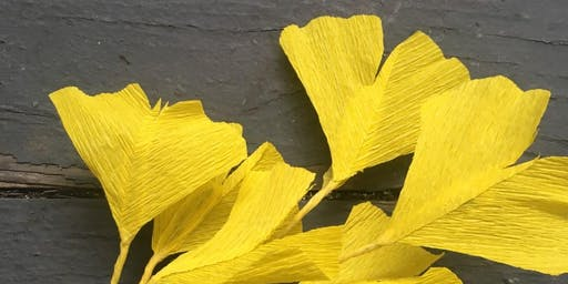 Handcrafted Paper Flowers: Ginkgo leaves