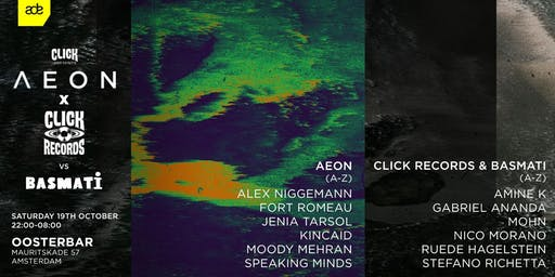 Click ADE presents Aeon, Click Records & Basmati