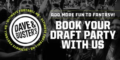 Book Your Dave and Buster's Woodbridge Fantasy Football Draft Party