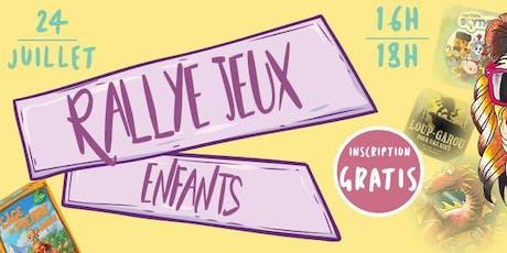 RALLYE JEUX DE SOCIETE - ENFANTS billets