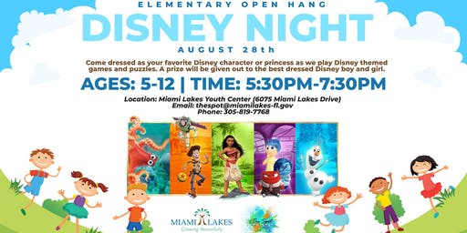 Elementary Open Hang: Disney Night