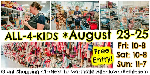 All-4-Kids Sale, Fall + Winter 2019 (consignment event)