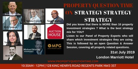 31st July Property Question Time  tickets