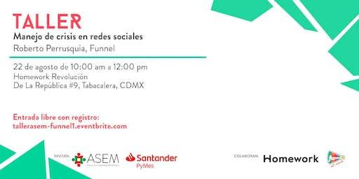 "Taller ""Manejo de crisis en redes sociales"""