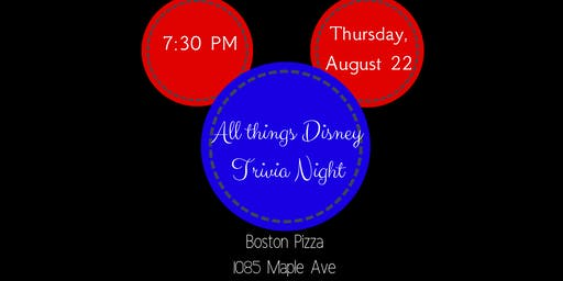 All About Disney Trivia Night - Milton