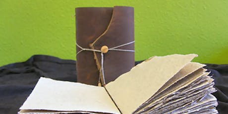 Leather Journal Class: •  Sunday, December 15,  12:00 noon to 4:00 pm  tickets