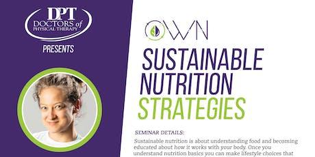 Sustainable Nutrition Strategies tickets