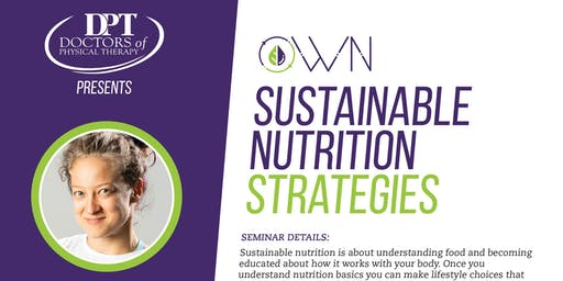 Sustainable Nutrition Strategies
