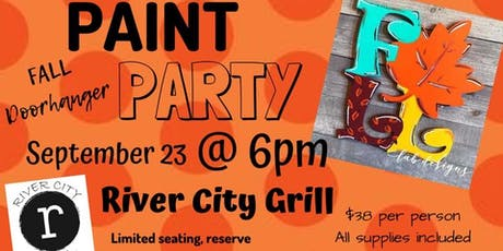 Fall Paint Party River City Grill tickets