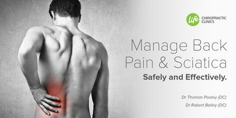 Manage Back Pain and Sciatica Safely and  Effectively tickets