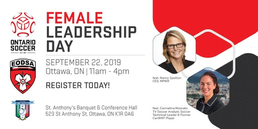 Ontario Soccer Female Leadership Day