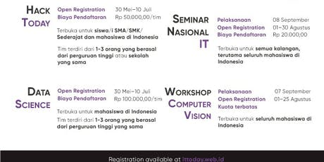 Seminar Nasional IT Today tickets