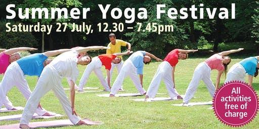 Summer Yoga Festival (all activities free of charge)