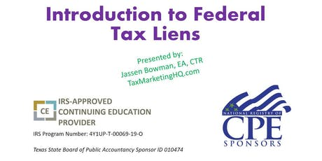 Introduction to Federal Tax Liens tickets