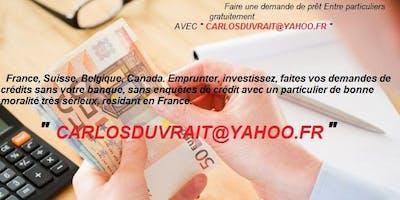 Carlosduvrait@yahoo.fr | Offre de prêt entre particuliers - petites annonce