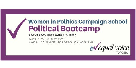 Women in Politics Campaign School (Toronto) tickets