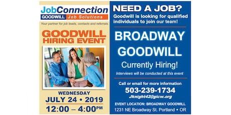 Goodwill is Hiring - Portland - 7/24/19 tickets