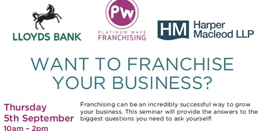 Want to franchise your business?