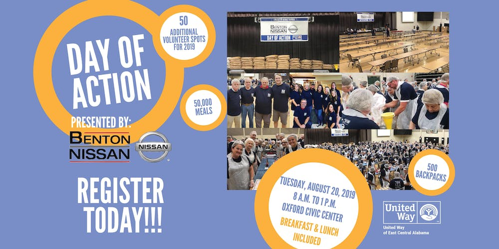 Benton Nissan Oxford >> United Way S Day Of Action Campaign Kickoff Presented By Benton