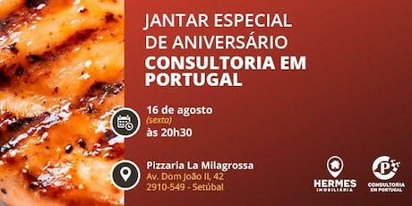 Jantar de Aniversário Hermes Imobiliária e Consultoria em Portugal bilhetes