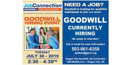 Goodwill is Hiring - Oregon City - 7/30/19 tickets