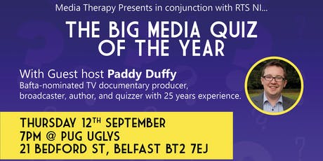 Media Therapy  Presents the Big Media Quiz tickets