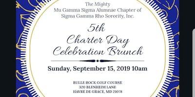 Mu Gamma Sigma 5th Charter Day Celebration Brunch