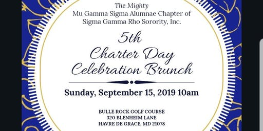 Mu Gamma Sigma 5th Charter Day Celebration Brunch