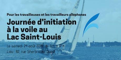 Journée d'initiation à la voile au lac Saint-Louis billets