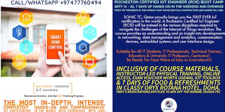 ROCHESTON Certified IoT Engineer (RCIE) by SONIC TC & ROCHESTON, New York tickets